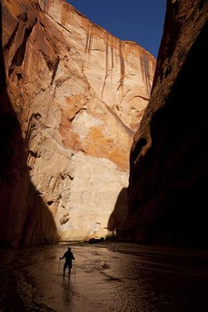 Silhouette of a Hiker in Paria Canyon, Arizona