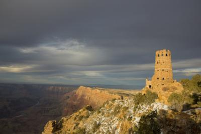 Sunset View of the Grand Canyon and Desert View Watchtower