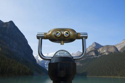Viewing Binocular at Lake Louise in Alberta, Canada