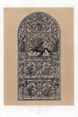 Cast Iron Panel from Mulheim, Germany, 19th Century by John Burley Waring