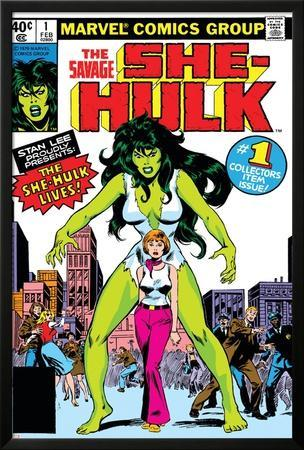 Hulk Family: Green Genes No.1 Cover: She-Hulk, Walters and Jennifer by John Buscema