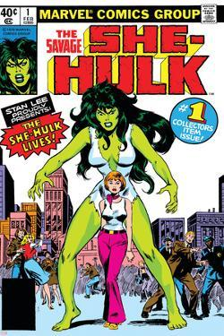 Hulk Family: Green Genes No.1 Cover: She-Hulk, Walters and Jennifer by John Buscema