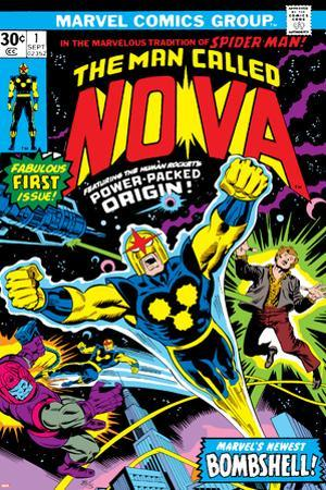 Nova: Origin Of Richard Rider - The Man Called Nova No.1 Cover: Nova by John Buscema