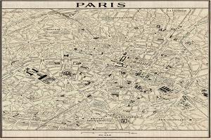 Paris Map by John Butler