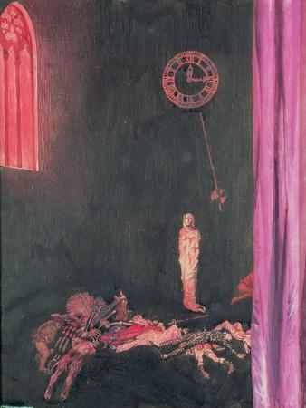 """""""Darkness and Decay and the Red Death Held Illimitable Dominion over All"""", Illustration for 'The…"""