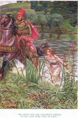 He Never Was the Courteous Knight, to Say, Fair Maid Will Ye Ride?, 1928 by John Byam Liston Shaw