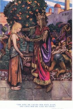 The King He Called Her Back Again, and Unto Her He Gave His Chain, 1928 by John Byam Liston Shaw