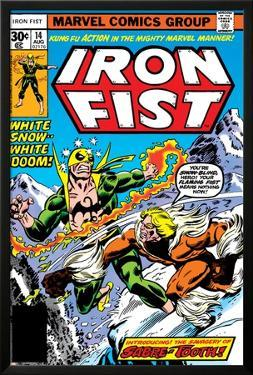 Iron Fist No.14 Cover: Iron Fist and Sabretooth by John Byrne