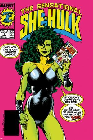 The Sensational She-Hulk No.1 Cover: She-Hulk by John Byrne