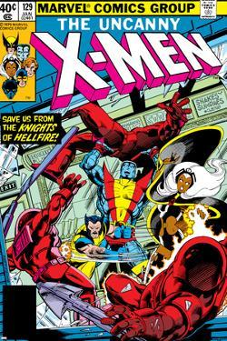 Uncanny X-Men No.129 Cover: Wolverine, Colossus, Storm and X-Men by John Byrne