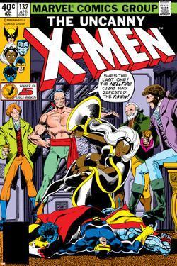 Uncanny X-Men No.132 Cover: Shaw, Sebastian, Wyngarde, Jason, Storm and Hellfire Club by John Byrne