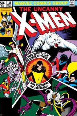 Uncanny X-Men No.139 Cover: Shadowcat, Storm, Angel, Colossus, Nightcrawler, Wolverine and X-Men by John Byrne