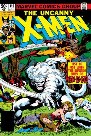 Uncanny X-Men No.140 Cover: Wolverine and Wendigo by John Byrne