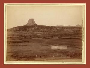 Devil's Tower and Mo. Buttes. Ryan's Ranch in Foreground, 2 Miles from Camera to Tower by John C. H. Grabill
