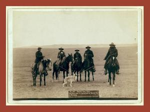 Roping Gray Wolf, Cowboys Take in a Gray Wolf on Round Up, in Wyoming by John C. H. Grabill