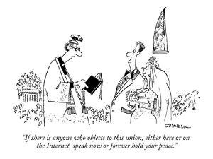 """""""If there is anyone who objects to this union, either here or on the Inter?"""" - New Yorker Cartoon by John Caldwell"""