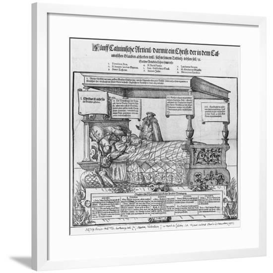 John Calvin on his Death Bed-Jacob Lederlein-Framed Giclee Print