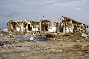 Damage Caused to Houses by Hurricane Katrina by John Cancalosi