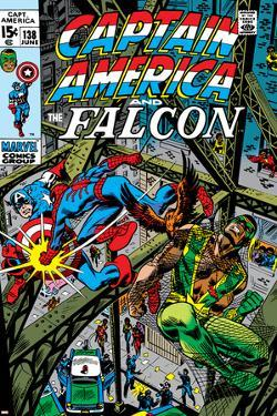 Captain America & The Falcon No.13 Cover: Captain America, Falcon and Spider-Man by John