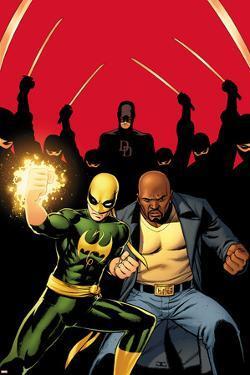 Daredevil No.509 Cover:  Iron Fist, Luke Cage, and Daredevil Posing by John Cassaday