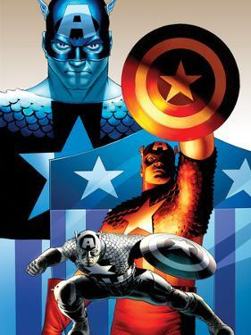 The Punisher No. 1 Cover Art Featuring: Captain America by John Cassaday