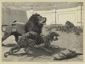 In the Arena by John Charles Dollman
