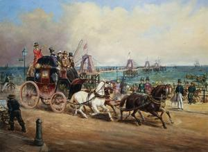 The Arrival of the Royal Mail, Brighton, England by John Charles Maggs