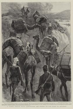 A Camel Convoy with Ammunition and Stores on the Road to Akasheh by John Charlton