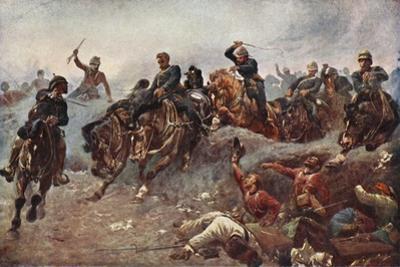 British Artillery Entering Enemy Lines at Tel El-Kebir, 1882 by John Charlton