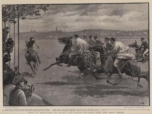 Polo by Moonlight in Malta, the Match Between Army and Navy Teams by John Charlton