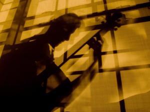 Shadow of a Man Playing Guitar by John Churchman