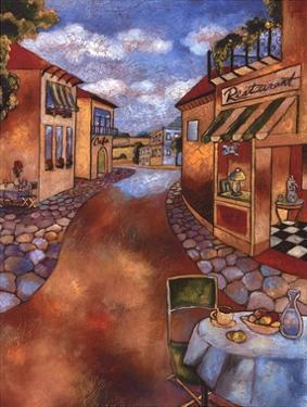 Village Restaurant by John Clayton