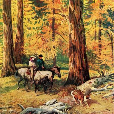 """Fall Horseback Ride"", October 20, 1956"