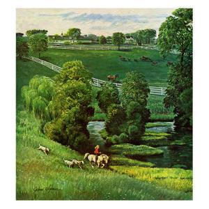 """Green Kentucky Pastures,"" July 29, 1961 by John Clymer"