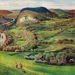 """""""Green Moutains,"""" May 21, 1960 by John Clymer"""