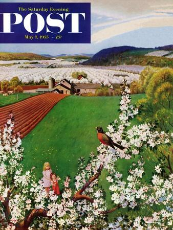 """""""Harbinger of Spring"""" Saturday Evening Post Cover, May 7, 1955"""