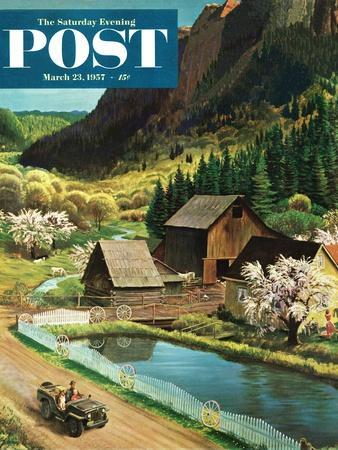 """Mountain Farm"" Saturday Evening Post Cover, March 23, 1957"