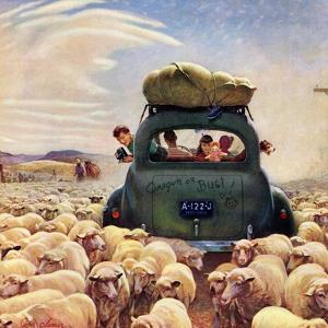 """""""Oregon or Bust"""", August 4, 1951 by John Clymer"""