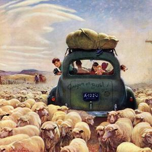 """Oregon or Bust"", August 4, 1951 by John Clymer"