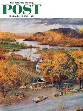 """Roadside Vegetable Stand,"" Saturday Evening Post Cover, September 9, 1961 by John Clymer"