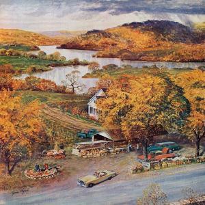 """""""Roadside Vegetable Stand,"""" September 9, 1961 by John Clymer"""