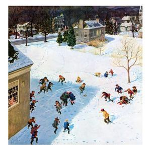 """Snowball Recess"", February 4, 1956 by John Clymer"