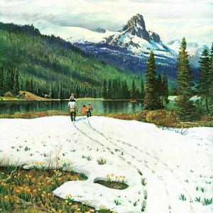 """Spring Warms the Mountains,"" May 5, 1962 by John Clymer"