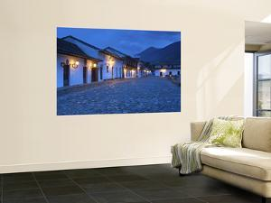 Colombia, Villa De Leyva, Boyaca Province, National Monument, White Washed Colonial Homes by John Coletti
