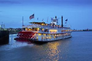 Louisiana, New Orleans, Natchez Steamboat, Mississippi River by John Coletti