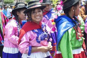 Peru, Lima, San Martin Square, Ayacuchano Carnival, Ayacucho Region, Traditional Festival by John Coletti