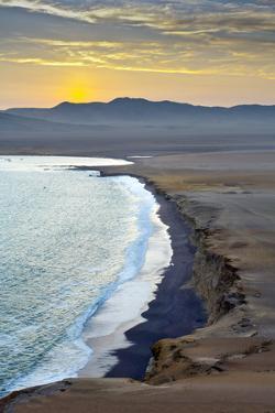Peru, Paracas National Reserve, Lagunillas Bay, Sunset, Pacific Ocean, Ica Region by John Coletti