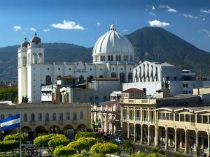 San Salvador, El Salvador, Plaza Libertad, Metropolitan Cathedral of the Holy Savior by John Coletti