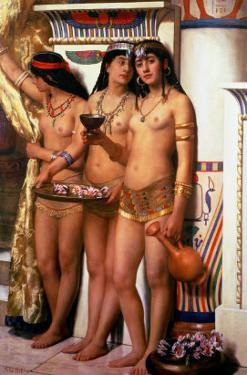 Pharaoh's Handmaidens by John Collier