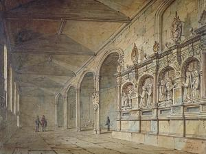Interior of the Chapel of St Peter Ad Vincula, Tower of London, 1814 by John Coney